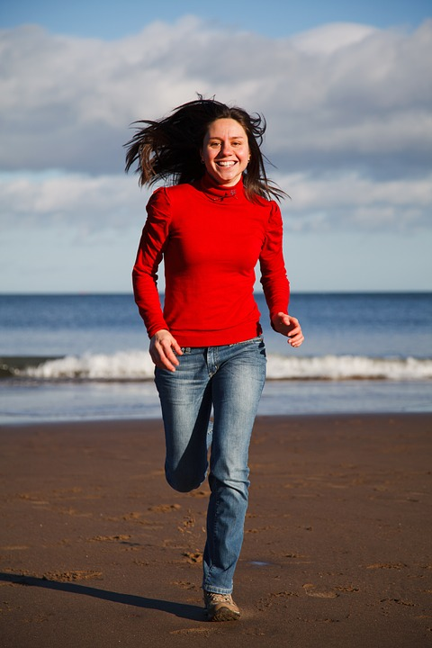 Fitness Girl Beach Health Fun Female Fit Happy