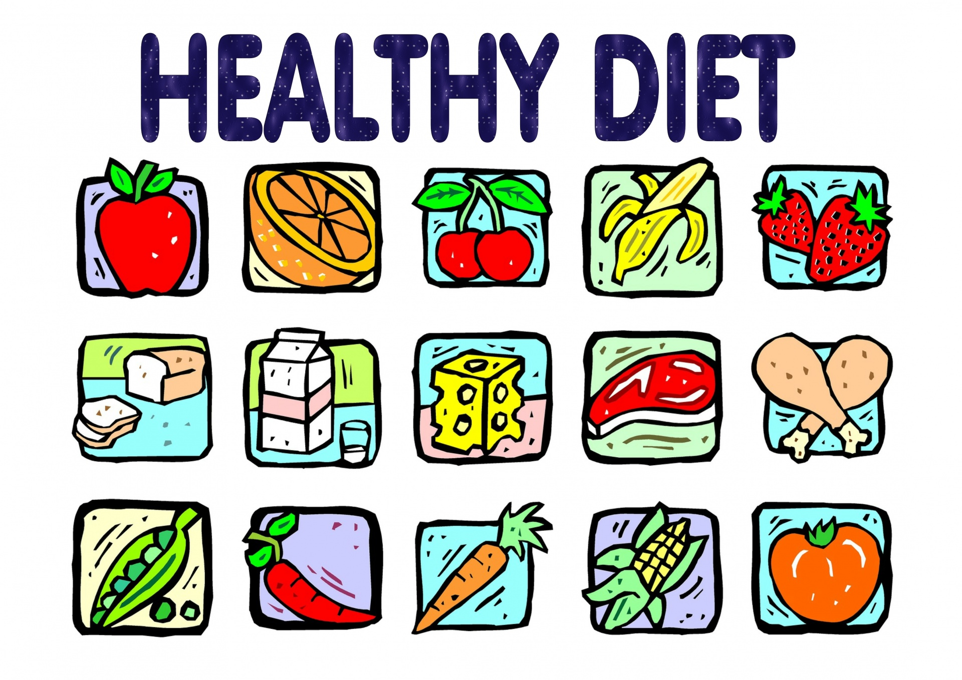 healthy-diet-educational-poster public domain pictures-net